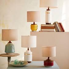 Roar Rabbit Ripple Ceramic Table Lamp Turquiose West Elm UK - Kitchen table lamp