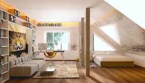 Hangart by Apartment Hang Art And Library Room In A Loft Apartment Ideas