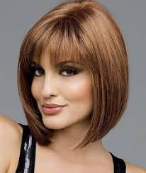 mid lengh hairstyles for over 50 with fringe bobs hairstyle for woman over 50 with bangs medium short bob