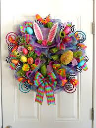 Easter Egg Door Decorations by Mad Hatter Kranz Deko Mesh Ostern Kranz Alice In Wonderland Kranz
