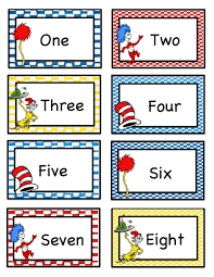 number word chart pictures kiddo shelter