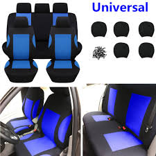 9pcs breathable polyester car seat covers set for auto front rear