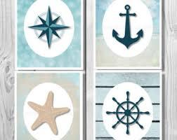 Sailor Bathroom Set Nautical Decor Nautical Anchor Decor Bathroom Decor