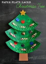 How To Make A Christmas Tree Star For Top - paper plate christmas tree craft i heart crafty things