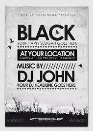 20 black dark flyer templates free psd eps ai indesign