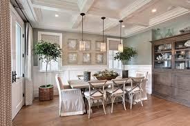 orange county faux magnolia centerpiece dining room beach style