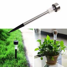 flower pot solar light garden outdoor stainless steel led solar power landscape path