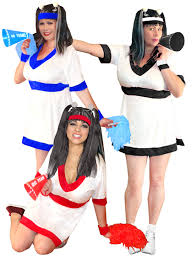 Red White Blue Halloween Costumes Sale Cheerleader White Red White Royal Blue White Black