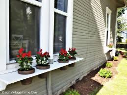 diy window flower boxes our vintage home love diy window boxes