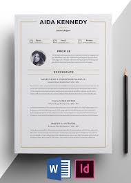 Interior Design Resume Templates Interior Designer Resume Template Easy Edit Get Hired Today