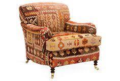 Kilim Storage Ottoman Amelia Kilim Upholstered Storage Ottoman On Onekingslane Com