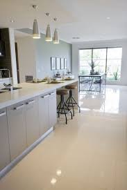 tile floors yellow kitchen white cabinets electric slide in