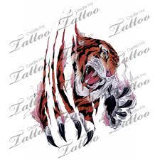 marketplace tiger tearing through skin 2741