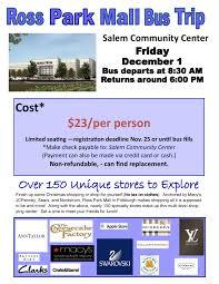 salem community center ross park mall trip