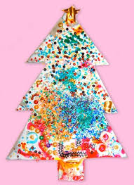 sparkly tree craft for preschoolers things to make and