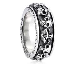 skull wedding rings shop for spinner skull wedding band for men at imensjewelry