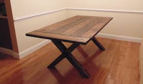 custom crossed leg trestle style farmhouse table by wonderland