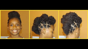 cute twisted natural hair updo mohawk hairstyle on natural hair