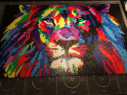 hama bead letter templates lion l ve perler bead hama pixel templates pinterest lion hama perler beads by carina bergenstoff