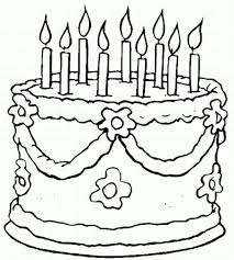 happy birthday cake and gifts coloring pages happy birthday cake