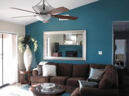 brown and blue living room decorating ideas grey brushed nickel