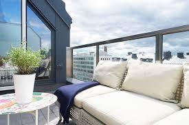canapé tressé design exterieur aménagement toit terrasse canapé tressé moderne
