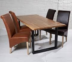 Esszimmertisch Massiv Esstisch Massiv 180x90 Cm Akazie Metall Echtholz Tisch Geölt Beine