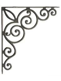 shoreline decorative heavy duty iron shelf bracket including