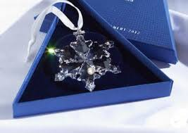 swarovski 2012 annual edition snowflake ornament cart4brand