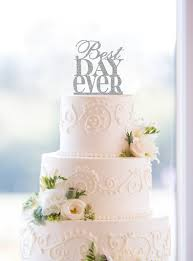 traditional wedding cake toppers glitter best day wedding cake topper in traditional fonts