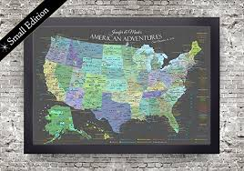map usa framed explore america map small framed map slate edition