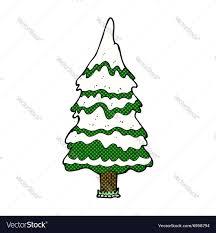 comic cartoon snowy tree royalty free vector image
