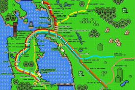 Bart Routes Map by Gamify Your Commute With This Super Mario Bart Map Curbed Sf