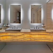 Bathroom Mirror With Shelf Backlit Bathroom Mirror Contemporary With Chic Freestanding