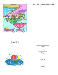 free printable pool party birthday invitations cimvitation