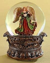 snow globes heavenly musical snow globe