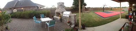 there is a panoramic view of his backyard
