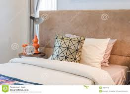 bed pillows single bed with pillows in bedroom stock image image 48326849