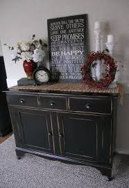 how to decorate a buffet table black distressed buffet this looks just like my tv stand end