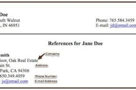 How To List References In Resume On Writing A Resume References Reentrycorps