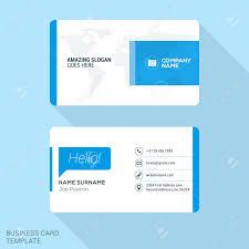 Flat Design Business Card Modern Creative Business Card Template Flat Design Vector