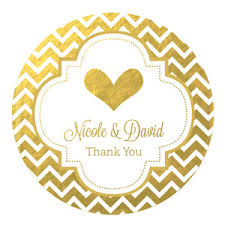 wedding favor labels personalized metallic foil wedding favor labels