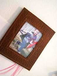 leather picture frames made by me shared with you tutorial leather magnetic frames