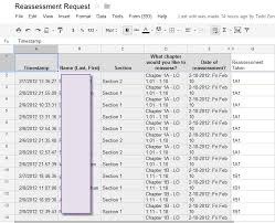 Form To Spreadsheet My Learning Objectives Based Assessment Loba Workflow Talking