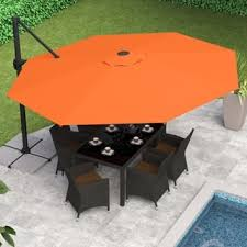11 Ft Offset Patio Umbrella Size 11 Ft Patio Umbrellas For Less Overstock