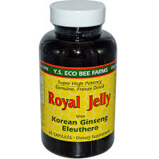 y s eco bee farms royal jelly with korean ginseng eleuthero 65