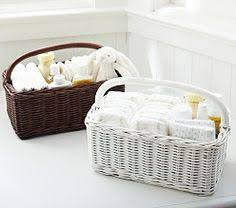 Pottery Barn Baskets With Liners Gray Gingham Diaper Caddy Pbkids Baby Nursery Pinterest