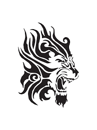 tribal lion tattoo stencil real photo pictures images and