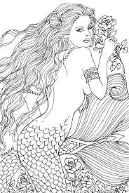272 best mermaid coloring pages for adults images on pinterest