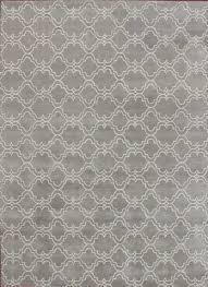 rugsville moroccan trellis scroll grey wool 12117 rug rugsville com